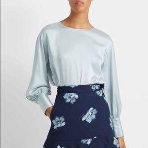 CLUB MONACO 100% Silk Balloon Sleeve Blouse